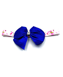 Magic Needles Printed Headband With Bow Motif - Royal Blue