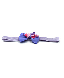 Magic Needles Headband With Grosgrain Bow Motif - Lavender