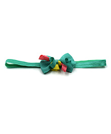 Magic Needles Headband With Grosgrain Bow Motif - Dark Green