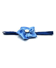 Magic Needles Headband With Satin Floral Motif - Blue