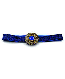 Magic Needles Headband With Studded Patch Work - Blue