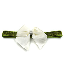 Magic Needles Glitter Headband With Bow - Green