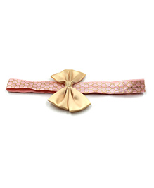 Magic Needles Bow Design Elastic Headband - Pink