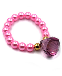 Magic Needles Beads Bracelet Diamond Applique - Pink