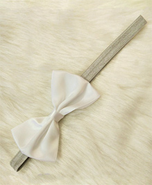 Magic Needles Bow Headband - White