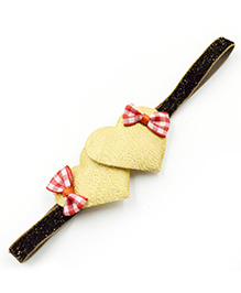 Magic Needles Headband Heart & Bow Appliques - Golden