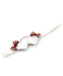 Magic Needles Headband Heart & Bow Appliques - Silver