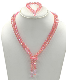 Magic Needles Beads Necklace & Bracelet Set - Pink