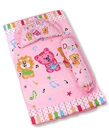 Baby Bedding Set Animals Print - Pink