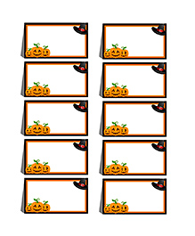 Party Propz Halloween Themed Menu Card White - 10 Pieces