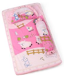 Baby Bedding Set Bunny Print - Pink