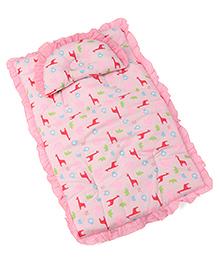 Baby Bedding Set Giraffe Print - Pink