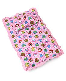 3 Piece Baby Bedding Set Animal Print - Pink