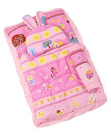 3 Piece Baby Bedding Set Tree Print - Pink