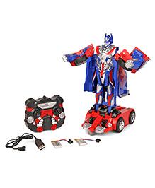 TurboS Remote Control Transforming Car Cum Robot - Blue Red