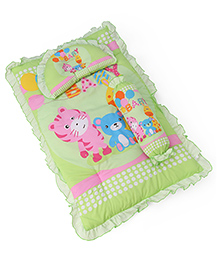 3 Piece Baby Bedding Set Animal Print - Light Green