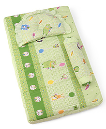 3 Piece Baby Bedding Set Animal & Birds Print - Green