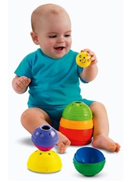 Fisher Price - Stack And Roll Cups