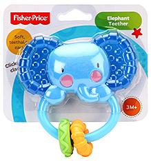 Fisher Price - Elephant Teether Rattle Blue