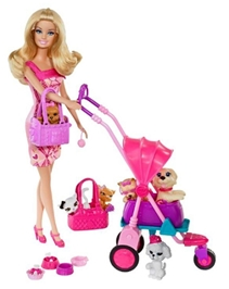 Barbie - Pets And Fun Doll Pink