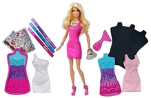 Barbie Design Fashion Plates Set With A Doll In Pink 29 Cm - 3 Years+
