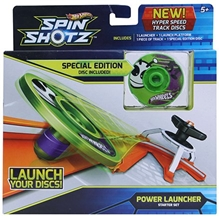 Hot Wheels-Spin Shotz Disc Green Alien Starter Set