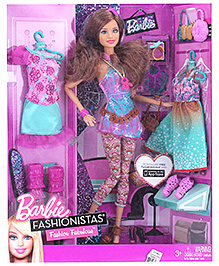 Barbie Fashionistas Teresa Doll 28 cm 3 Years+, Girls can get Teresa doll ready for the ultimate stylish...
