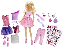 Barbie Doll with Clothes And Accessories Pink 29 cm 3 Years+, Provides hours of fun play for your little stylista