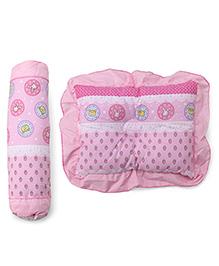 Baby Pillow & Bolster Set Strawberry Print - Pink