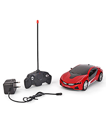Dr. Toy Non Chargeable RC Car With 3D Light - Red & Black