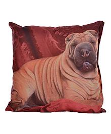 Twisha Nx Kids Cushion Bull Dog Print - Maroon