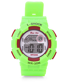 Digital Solid Colour Wrist Watch - Green