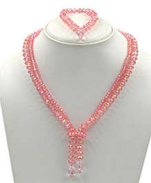 Magic Needles Necklace & Bracelet Set - Pink