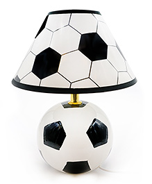 Quirky Monkey Football Lamp - White & Black