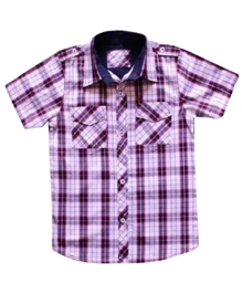 Super Young - Half Sleeves Checks Shirt