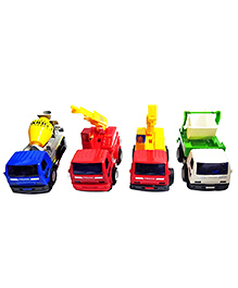 Emob Pull Back Action Construction Vehicle Toys Multicolor - Pack Of 4