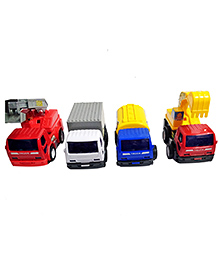 Emob Pull Back Action Construction Vehicle Toys Multicolor - Pack Of 4 - 2360711