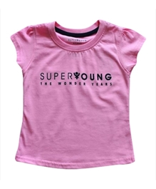 Super Young - Girls Short Sleeves Crew Neck T Shirt