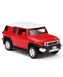 Innovador Die Cast Pull Back Action Toyota FJ Cruiser Toy Car Jeep - Red