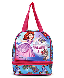 Disney Sofia The First Lunch Box Bag Pink & Blue - Height