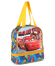 Disney Pixar Cars Lunch Box Bag Blue & Yellow - Height 9.64 Inches - 2365899
