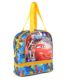 Disney Pixar Cars Lunch Box Bag Blue & Yellow - Height 9.64 Inches