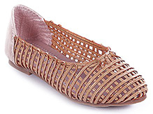 Cute Walk - Net Pattern Belly Shoes