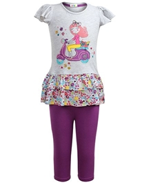 Cap Sleeves Top With Leggings Set 3 - 4 Years, Cute and comfortable 100% cotton top with leggings set