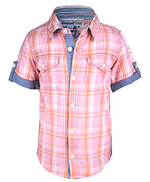 ShopperTree - Half Sleeves Checked Shirt