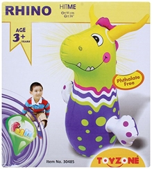 Toyzone - Hit Me In Rhino Shape Toy Green