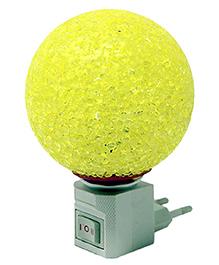 Skylofts LED Plug In Crystal Ball Night Lamp - Yellow