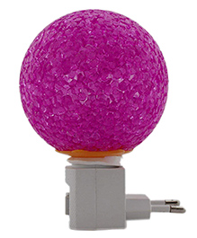 Skylofts LED Plug In Crystal Ball Night Lamp - Purple