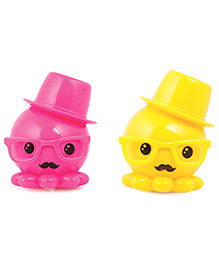 Skylofts Plug In LED Night Lamp Doll Design Pink Yellow - Pack Of 2