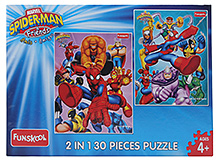 Funskool Spiderman And Friends Amis Amigos 2 In 1 30 Pieces Puzzles